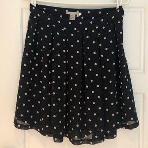 🌿2/$15🌿 H&M navy polka dot skirt